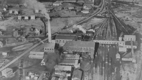 aerial view Allan Shaft c.19??