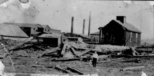 Destruction from the explosion at the Drummond Mine.