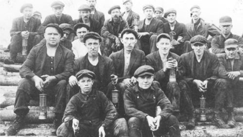 miners group photo