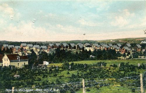 Rows of miner's single detached houses in Port Hood, 1907.