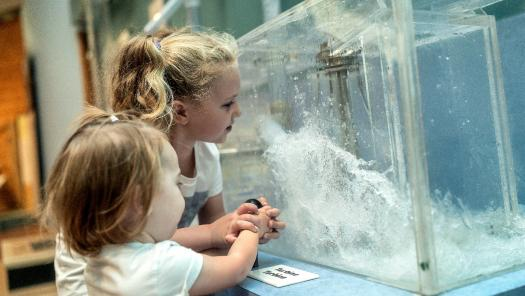 Children learn about water power