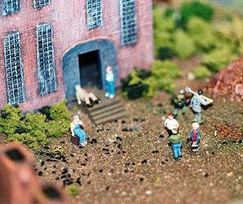 scale model of Nova Scotia workers