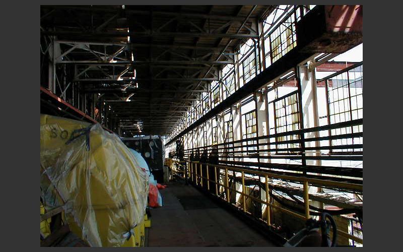 Coal red power plant interior Cape Breton
