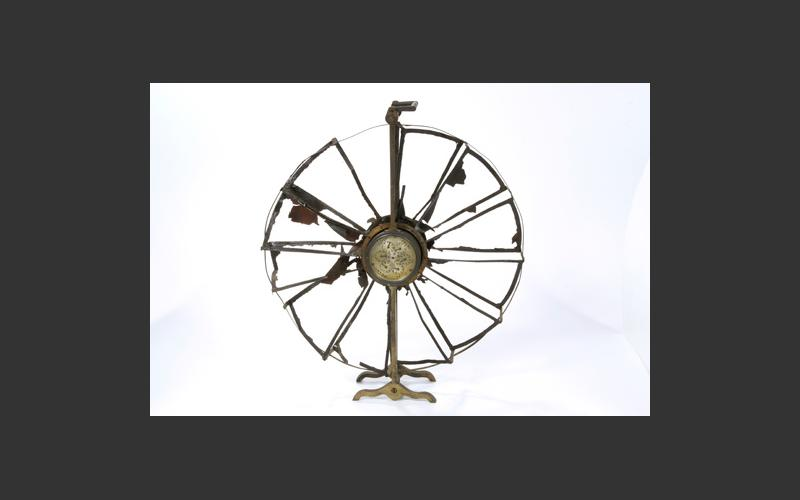Anemometer: An early type of anemometer used in the Bye Pit, one of the earliest local mines. It measured the movement of air in the mine and was an important test of air quality.