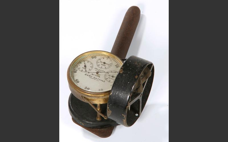A later anemometer. The Pictou Co. coal mines are very rich in methane and constant testing of air quality was essential for survival.