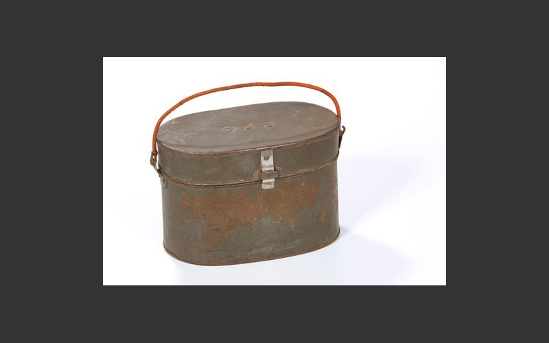 Lunch pail: miners took their meals underground so the lunch pail was a very important part of their equipment.
