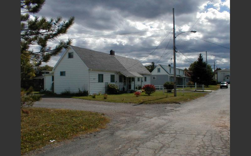 Coal miners housing, Pictou Co. gone