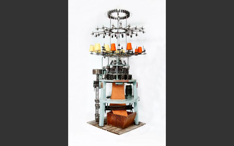The industrial knitting machine from a local knitwear factory can be spied in our Visible Storage display.