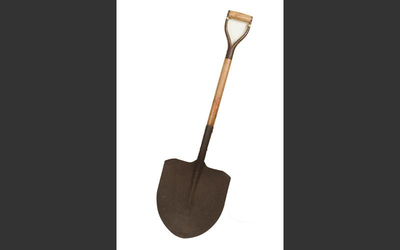 A shovel used in the mine to load coal into coal cars.