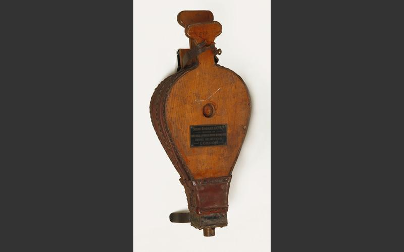 Bellows used in fighting fires.