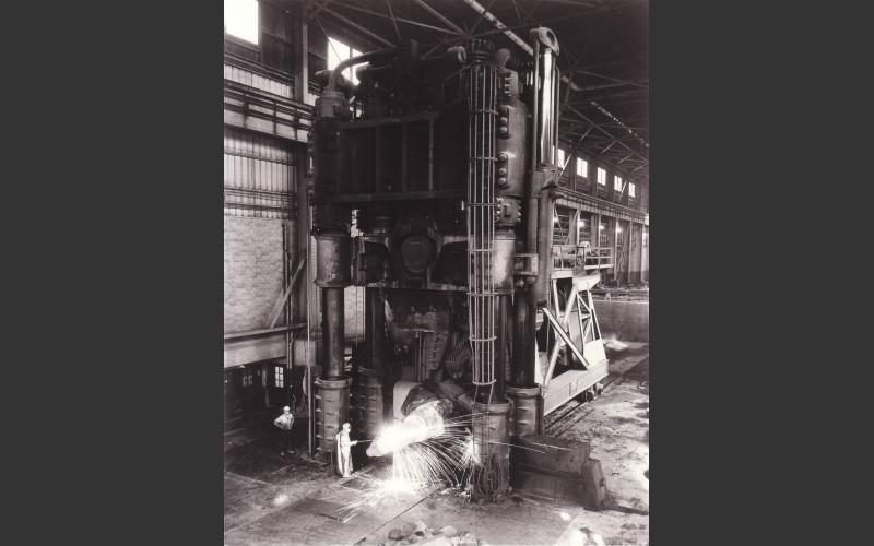 7000-ton forging press, acquired by Trenton in the 1940s, was the largest in Canada