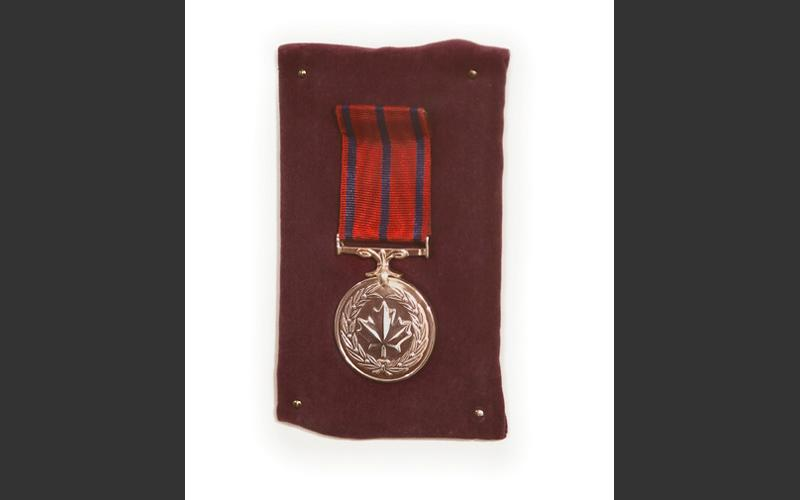 One of the 194 Medals of Honour presented to Westray Mine disaster rescuers by Governor General Roy Hnatyshyn in 1994.