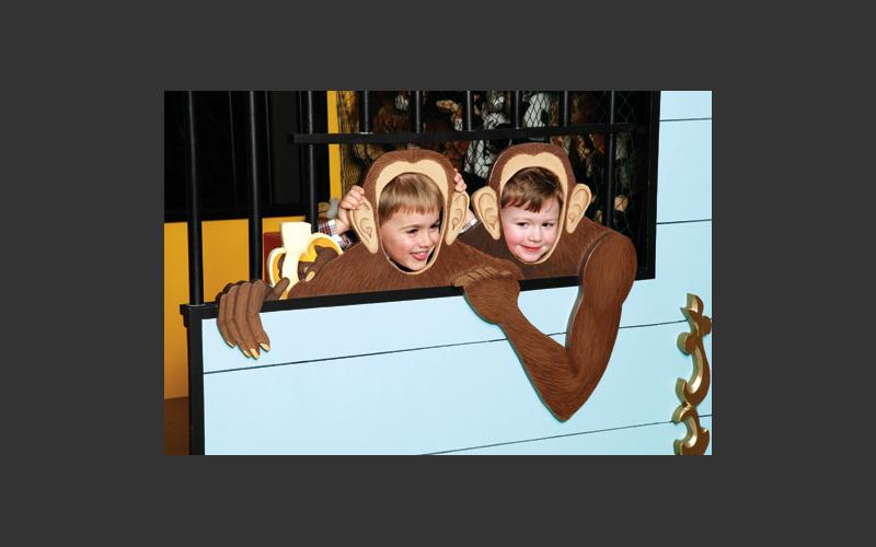 Go bananas with the exotic animals in our circus car.