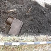 During the 2016 dig, this object started to emerge from the soil.