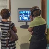 """Clairtone was ahead of the competition in being one of the first to manufacture colour televisions in Nova Scotia. Visitors can watch the company's 1967 commercials to find out why nothing beat a """"used Clairtone""""."""