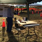 Industrial Heritage NS had a booth to provide information on iron founding and the buildings that were once on the Albion foundry site.