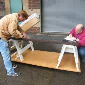 Before starting treatment, the rail is fully measured.