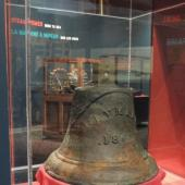 This bell from a shipwreck helps to tell the story of Cunard's concerns for safety on the sea as Nova Scotia's Lighthouse Commissioner.