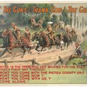 Featured in the exhibit were reproductions of WWI posters from the Nova Scotia Archives collection