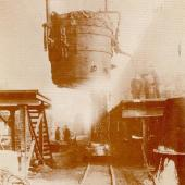 First pouring of steel at Trenton 1883