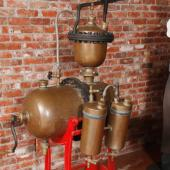 Soft drinks were made in many parts of Nova Scotia in the late 1800s and early 1900s. This tank was part of the equipment for making fizzy drinks under pressure.