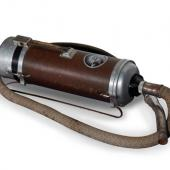 1935 model Electrolux vacuum cleaner made in Canada, possibly at the company's plant in Amherst, NS. It is part of our exhibit discussing how life changed with the introduction of electricity into the home.
