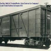 First railcar built at Trenton 1913