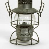 Railway lantern. Lanterns like this were used not only as a light source, but also as a method of signaling at night between railway engineers and the workers in the railyards.
