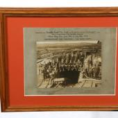 A framed photo of the firefighting team at Albion Mines, 1913.