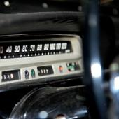 The speedometer inside the 1963 Volvo made in Nova Scotia and on display. For more information See Automobiles.