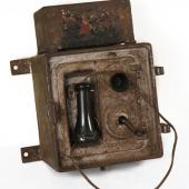 Mine telephone: among the first uses of telephones was to connect the men underground to the surface.