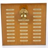 A plaque containing the names of the 26 miners killed in the Westray Mine explosion of May 9, 1992.