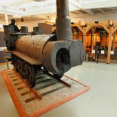 In the Age of Steam you can find one of the world's oldest locomotives and see how a belt-driven machine shop works.