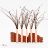Forge (Ostrich Feather, Sterling Silver, Copper, Steel, Found Brick)